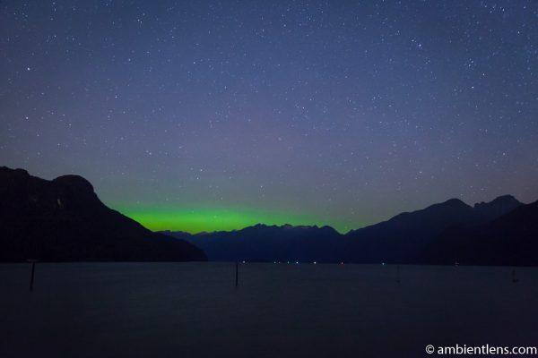 Aurora Borealis over Pitt Lake