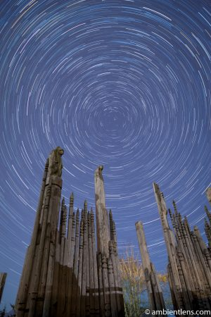 Star Trails over the Playground of the Gods