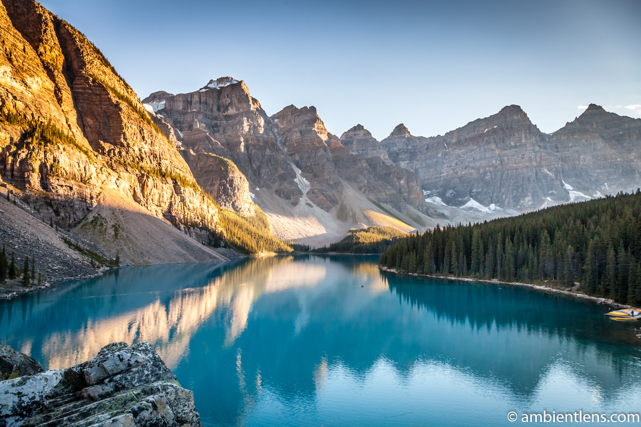 Moraine Lake at Sunset 1