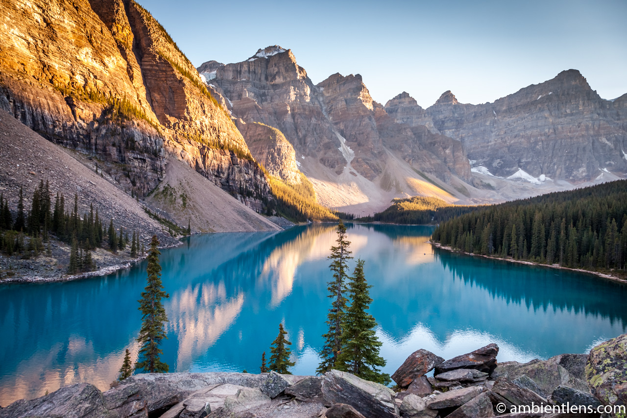 Moraine Lake at Sunset 2
