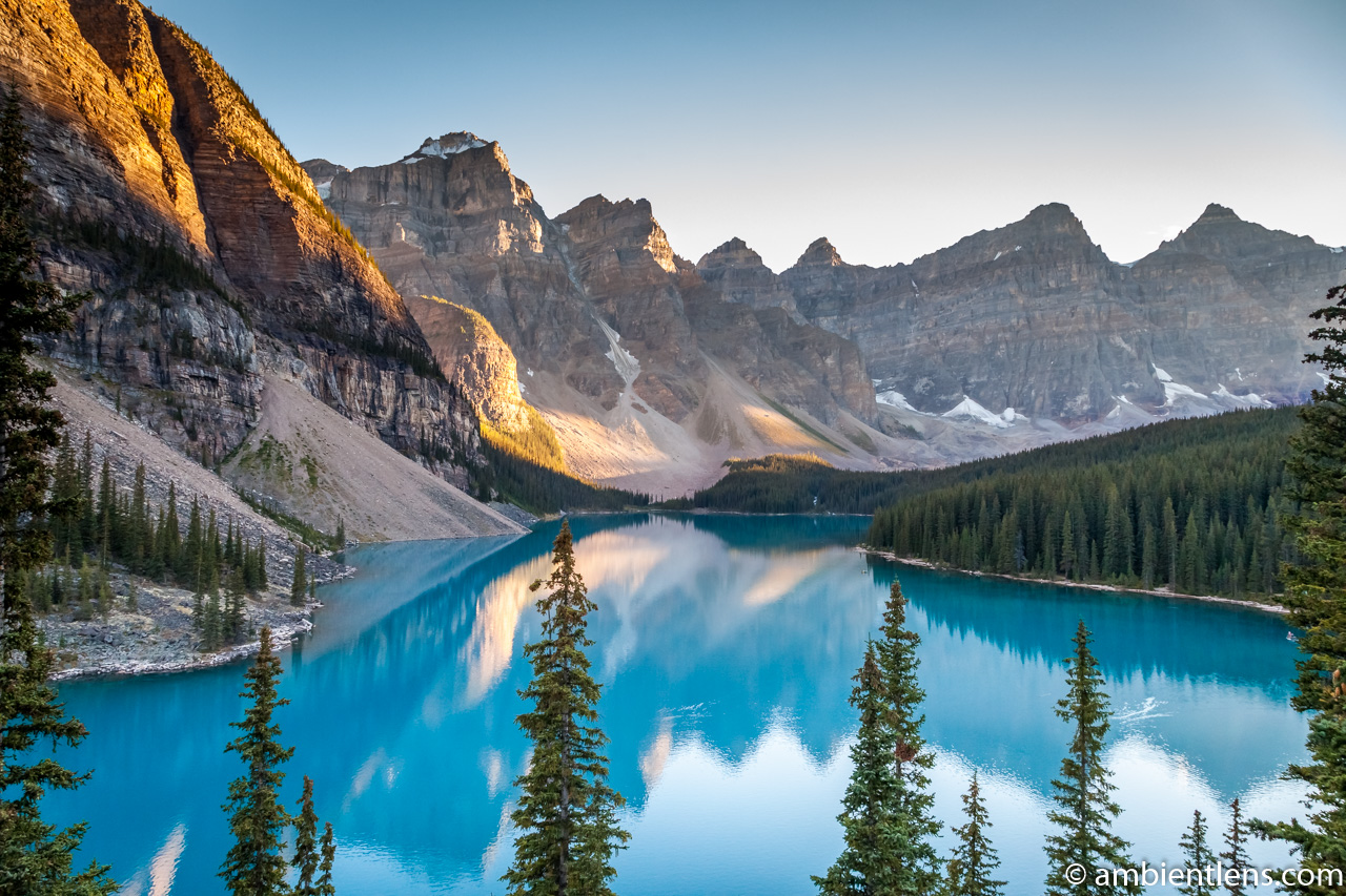 Moraine Lake at Sunset 3