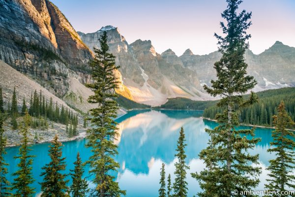Moraine Lake at Sunset 4