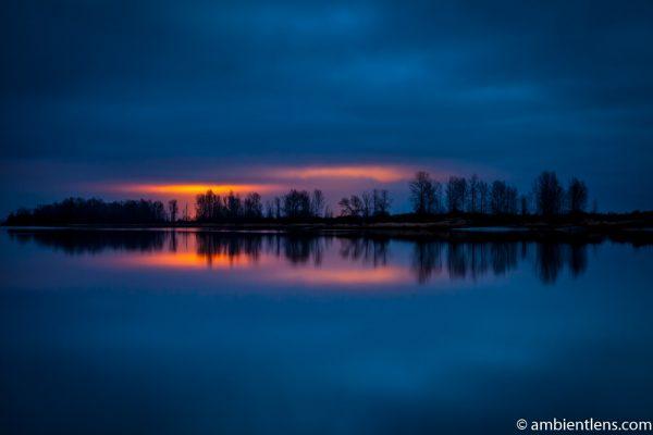 Fraser River at Sunset