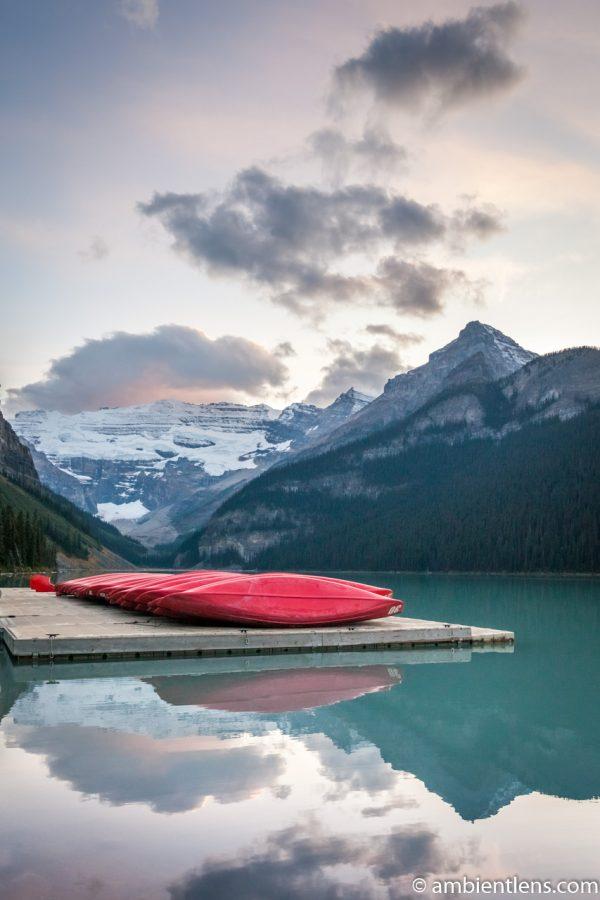 Canoes at Lake Louise, Banff, Alberta 2