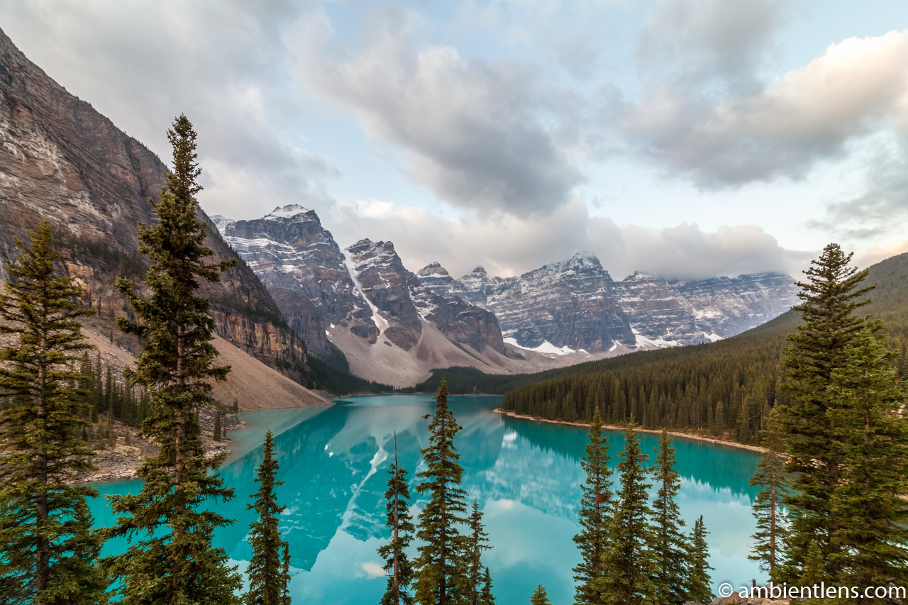 Sunrise at Moraine Lake, Banff, Alberta 1