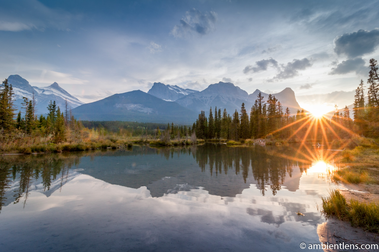 Sunset at Policeman Creek. Canmore, Alberta 1