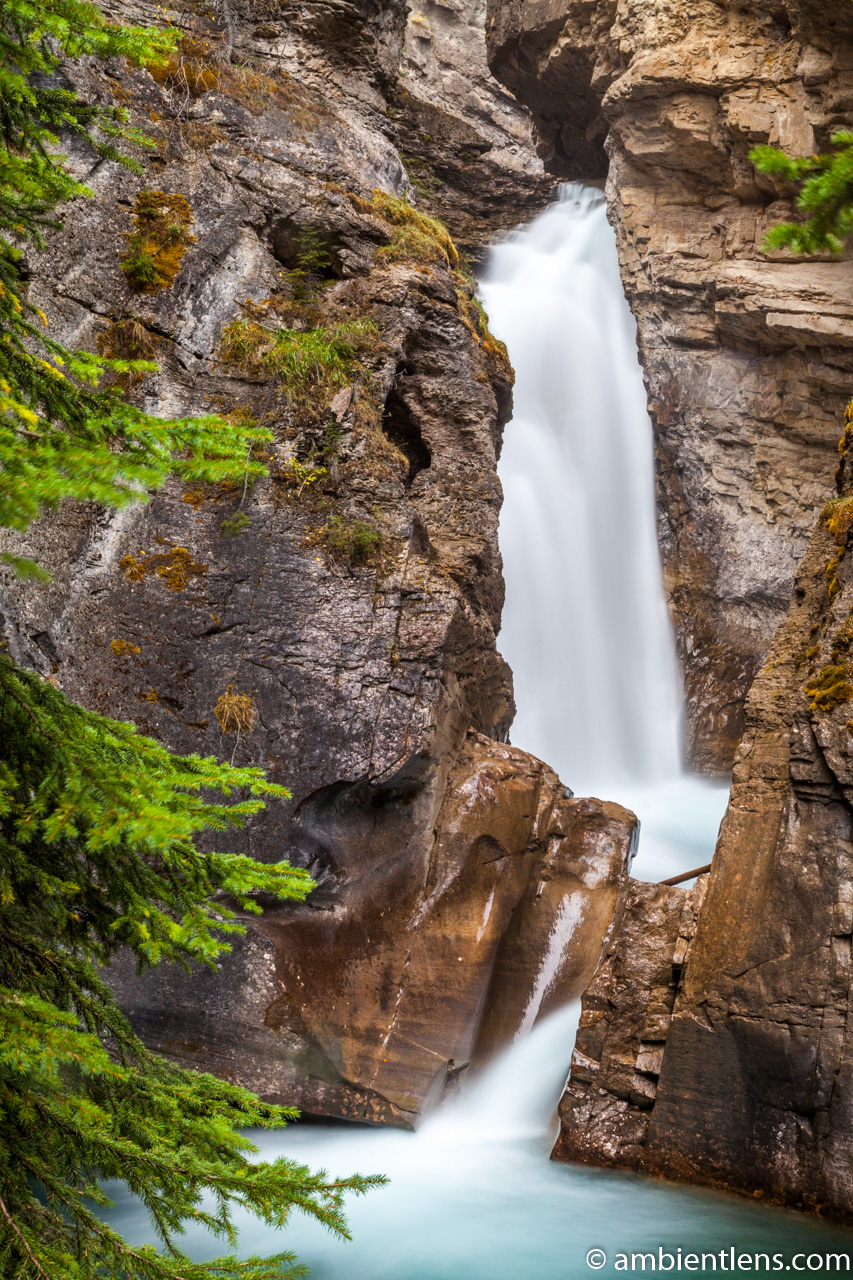 The Lower Falls at Johnston Canyon, Banff, Alberta 2