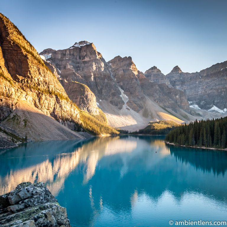 Moraine Lake at Sunset 1 (SQ)