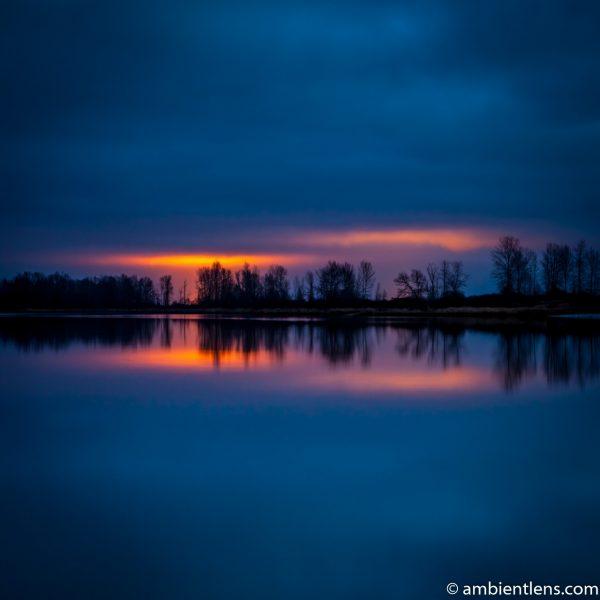 Fraser River at Sunset (SQ)