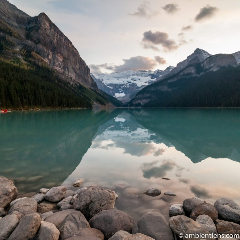 Sunset at Lake Louise, Banff, Alberta 2 (SQ)