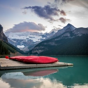 Canoes at Lake Louise, Banff, Alberta 1 (SQ)