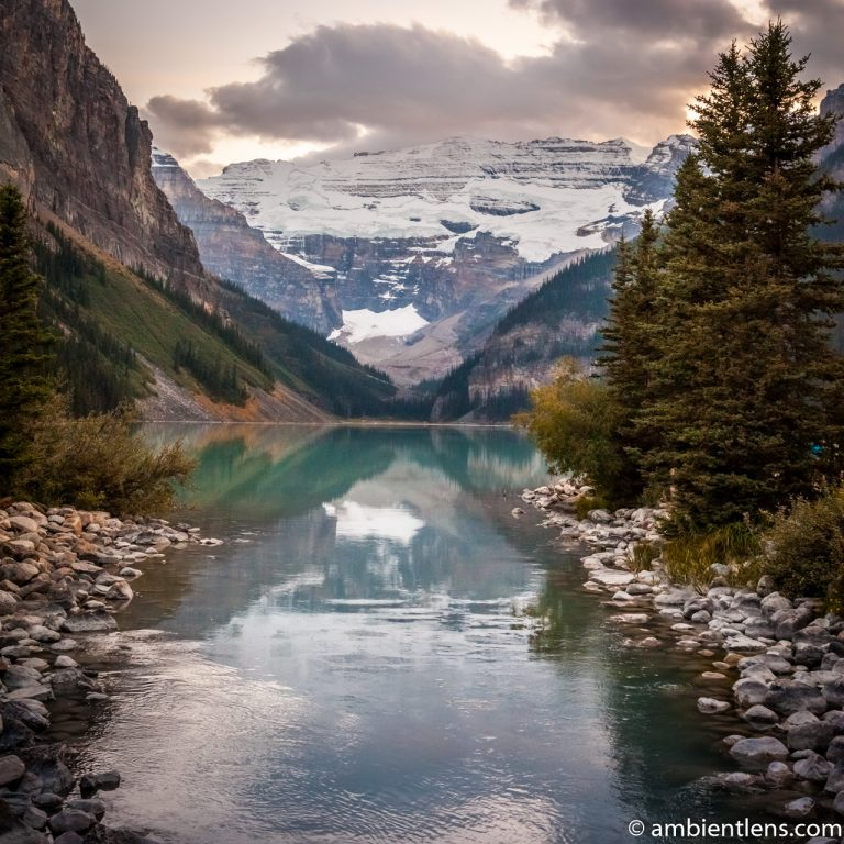 Sunset at Lake Louise, Banff, Alberta 3 (SQ)