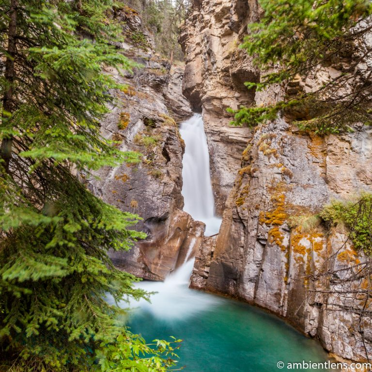 The Lower Falls at Johnston Canyon, Banff, Alberta 1 (SQ)