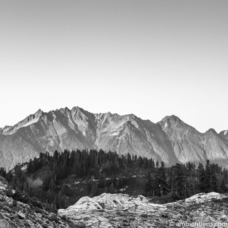 Washington State Mountain Range (BW SQ)