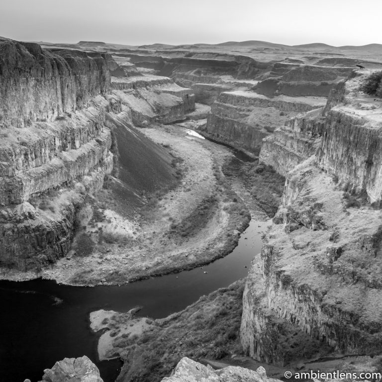 The Canyon at Palouse Falls 2 (BW SQ)