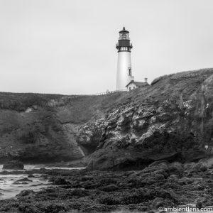 Yaquina Head Lighthouse 2 (BW SQ)