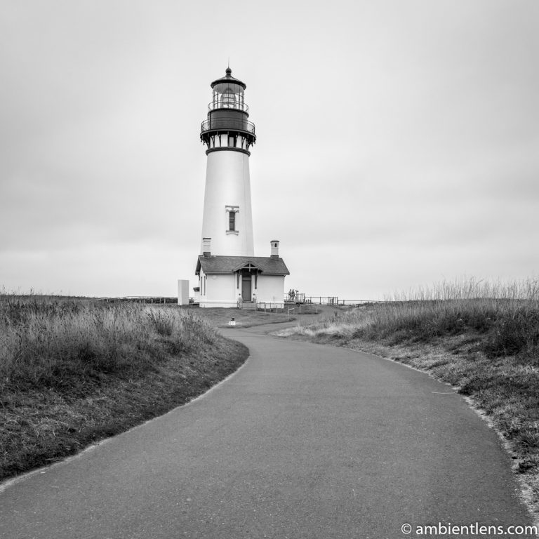 Yaquina Head Lighthouse 3 (BW SQ)