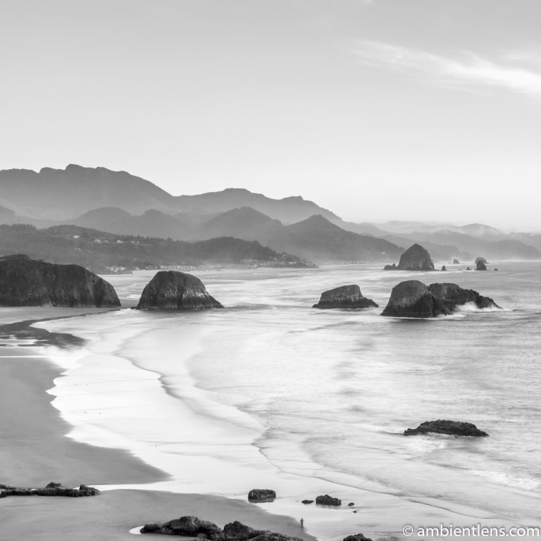 Cannon Beach 4 (BW SQ)