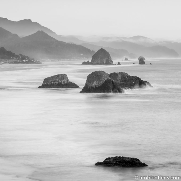 Cannon Beach 5 (BW SQ)