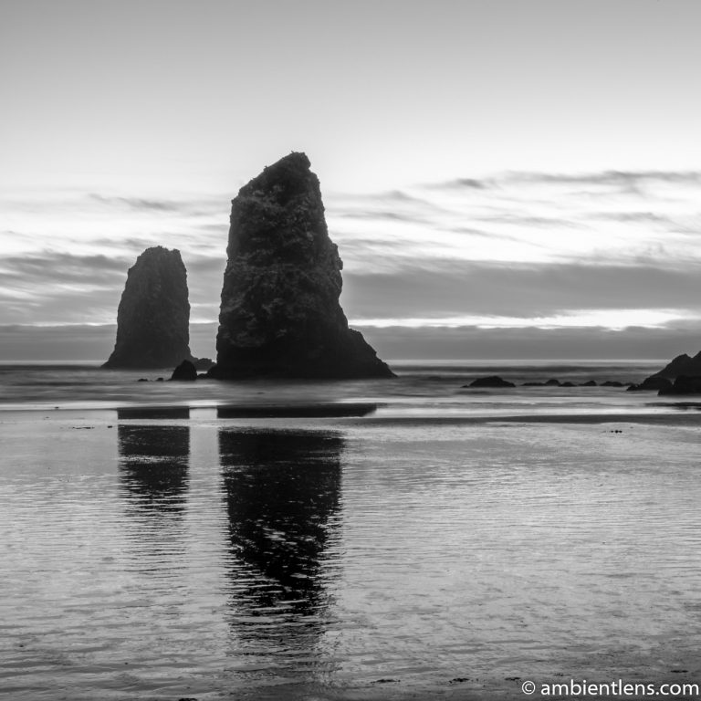 The Needles at Sunset (BW SQ)