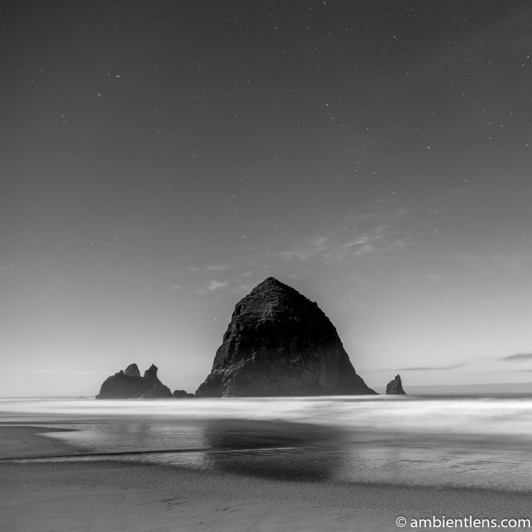Haystack Rock Under the Stars 2 (BW SQ)