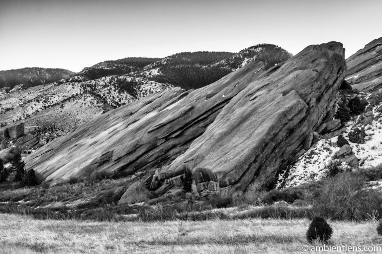 Red Rocks in Morrison, Colorado (BW)