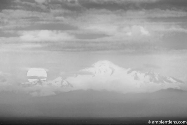 Mount Baker Moonrise 1 (BW)