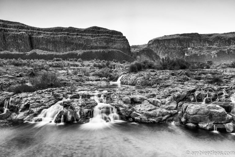 Little Palouse Falls 3 (BW)