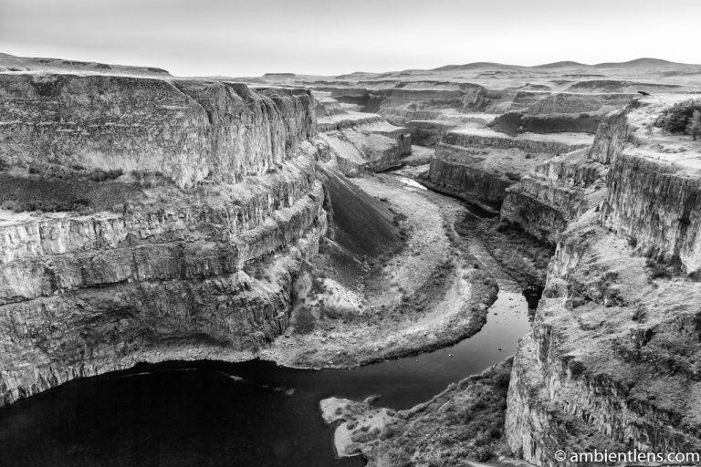The Canyon at Palouse Falls 1 (BW)