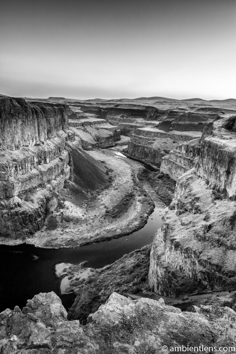 The Canyon at Palouse Falls 2 (BW)