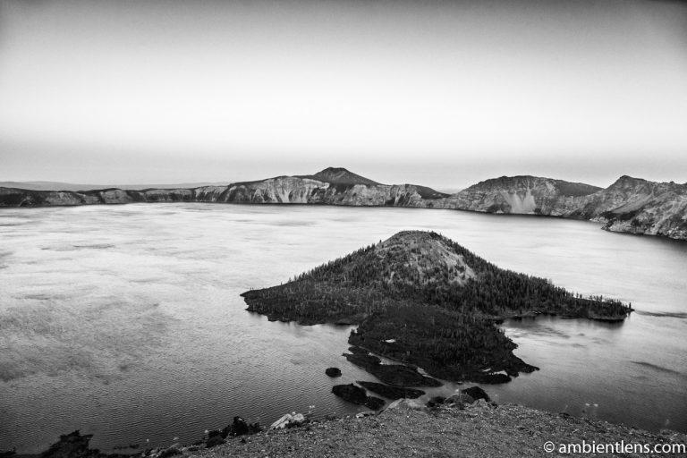 Crater Lake 1 (BW)