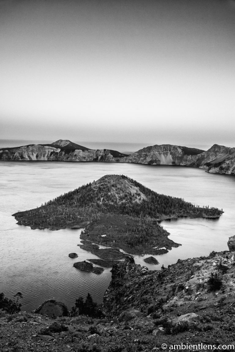 Crater Lake 3 (BW)