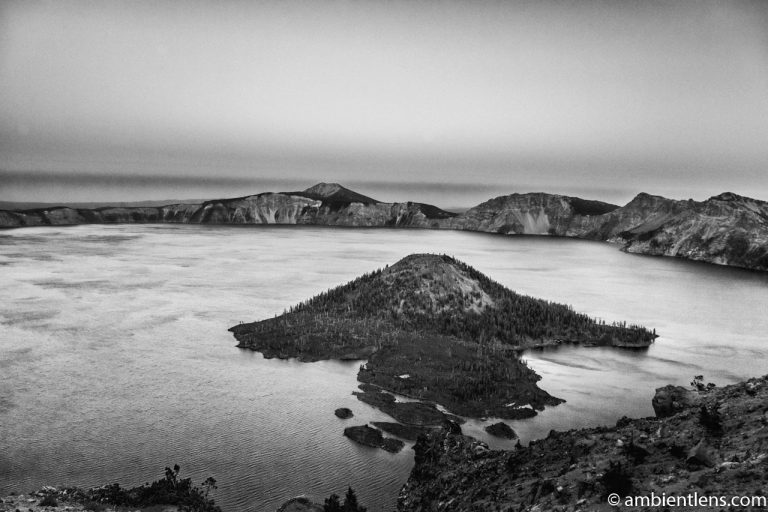 Crater Lake 4 (BW)