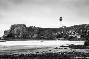 Yaquina Head Lighthouse 1 (BW)