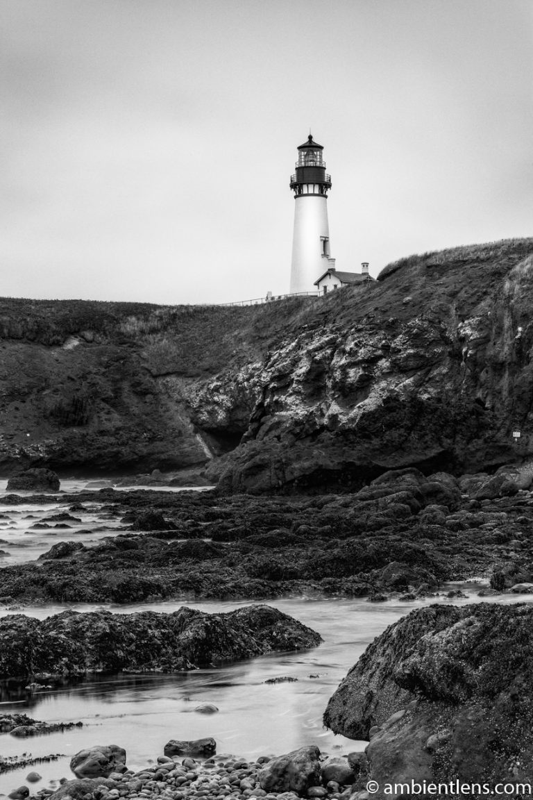 Yaquina Head Lighthouse 2 (BW)
