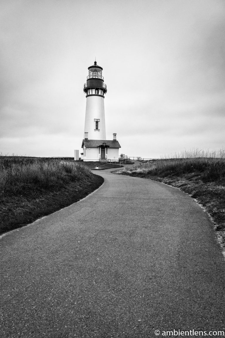 Yaquina Head Lighthouse 3 (BW)