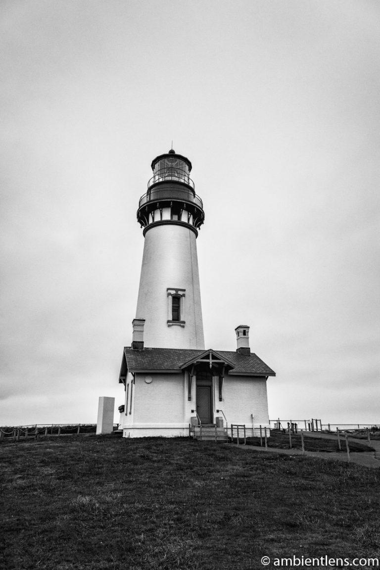 Yaquina Head Lighthouse 4 (BW)