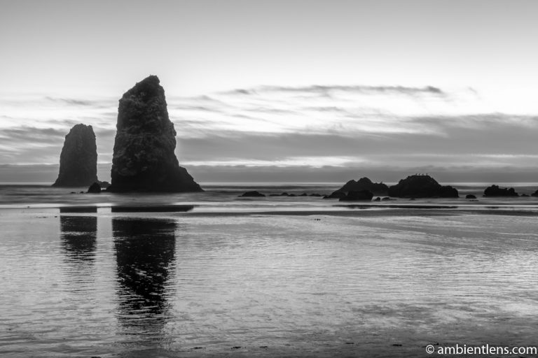 The Needles at Sunset (BW)
