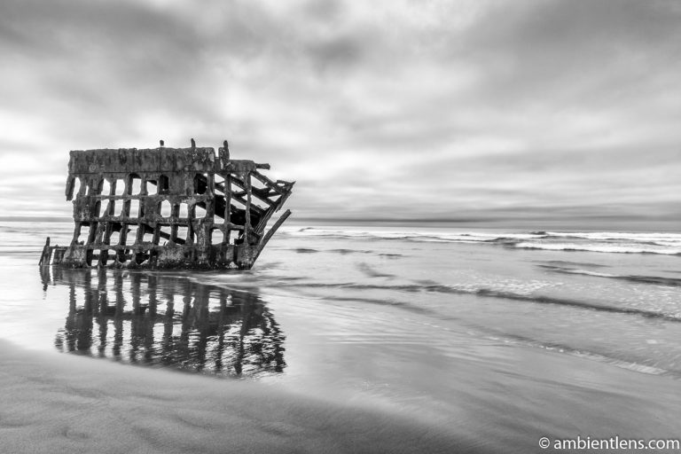 The Peter Iredale Shipwreck 2 (BW)