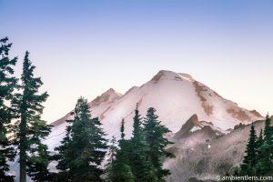 Tip of Mount Baker, WA