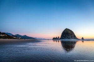 Haystack Rock at Sunset 4