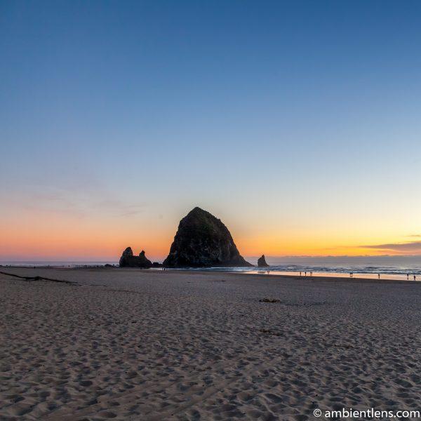 Haystack Rock at Sunset 2 (SQ)