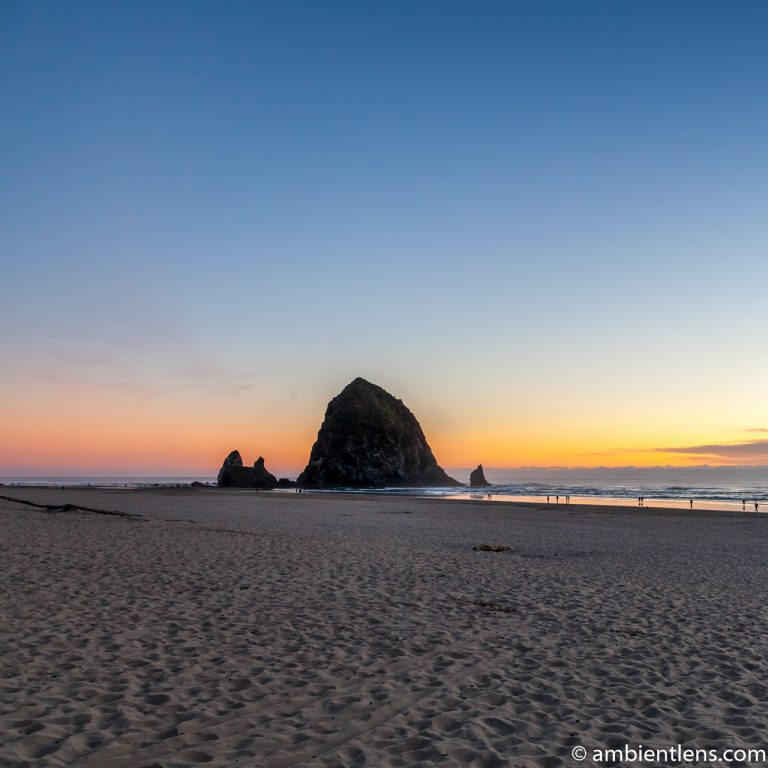 Haystack Rock at Sunset 2 (SQ)